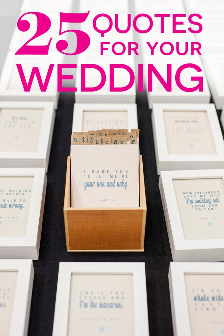 It might seem impossible to sum up your ridiculously amazing, complicated, and fantastic wedding in a neat little sentence, but here's a list of some of our favorite love quotes for weddings (and marriage!) to get you started.
