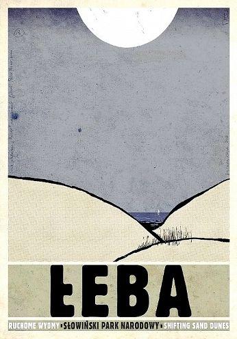 Łeba, polski plakat turystyczny