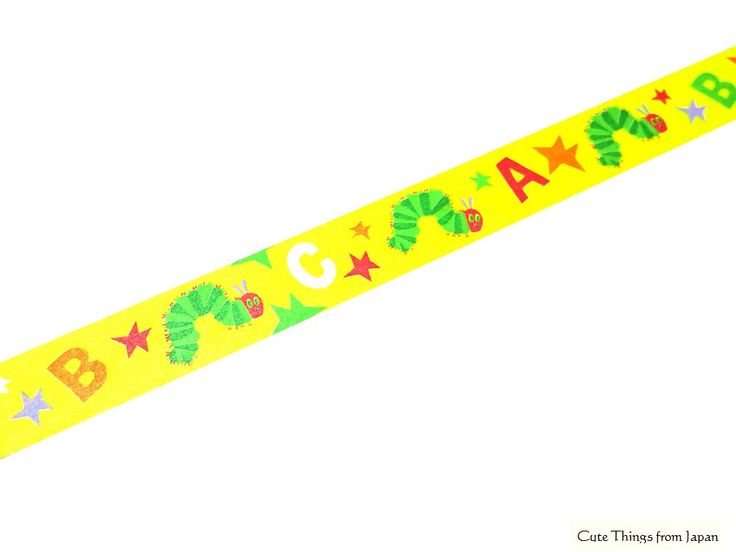 Cute Hungry Caterpillar Paper Tape available at Cute Things from Japan on Etsy.