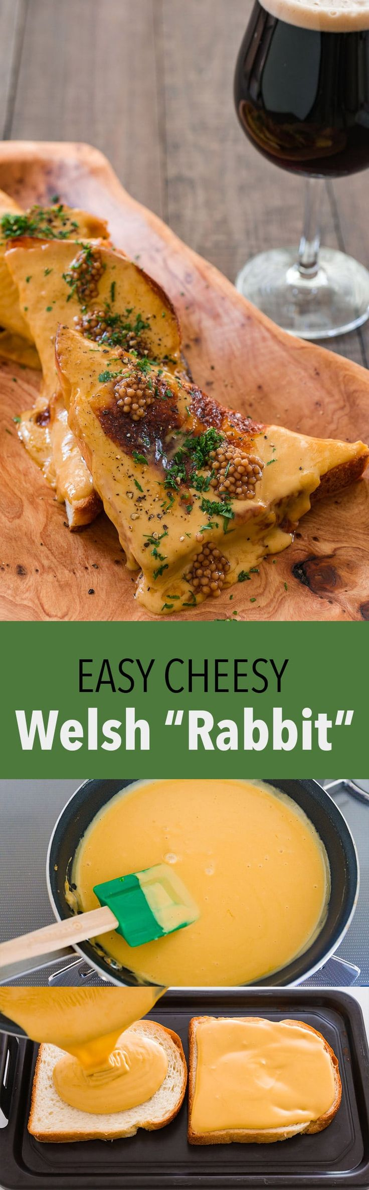 A delicious melty mess, Welsh Rabbit is an easy pub favorite with a stout…