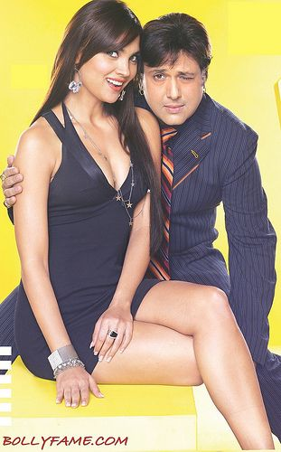 Lara Dutta Hot Wallpaper with Govinda www.bollyfame.com   Latest Bollywood and Hollywood News, Star Interviews, Song and Movies Reviews and Previews, Gossip and more.