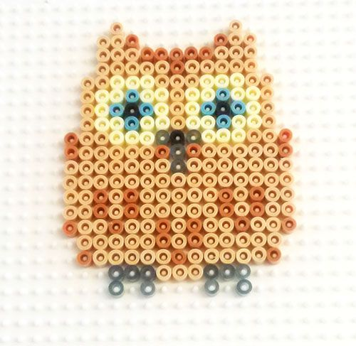 Owl hama perler beads. . could make plastic canvas sewn version