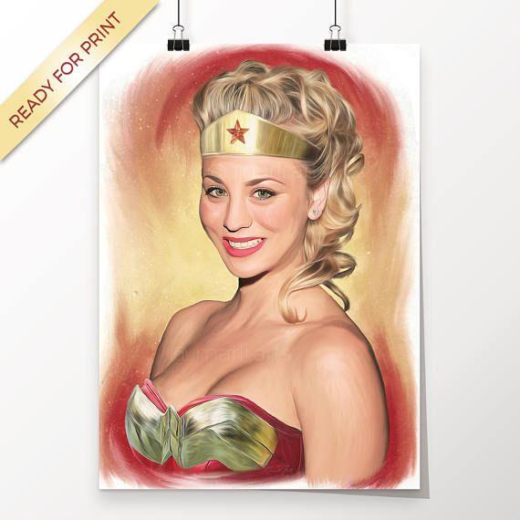 Penny Kaley Cuoco The Big Bang Theory Wonder Woman