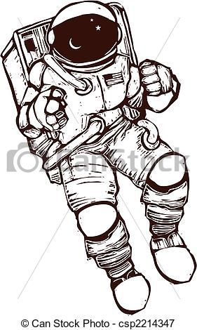 space suit drawing - photo #22