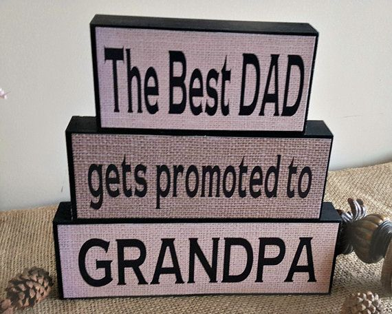 The Best Dad Get Promoted  New Grandpa Gift  by TimelessNotion