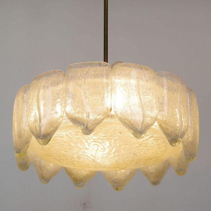Located using retrostart.com > Flush Hanging Lamp by Unknown Designer for Doria Leuchten
