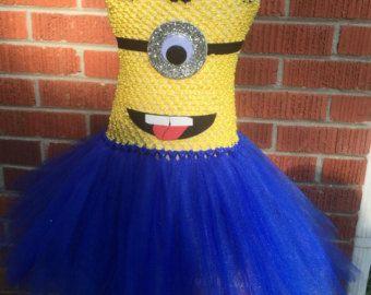 Despreciable inspiró a tutu tutu vestido-minion por GlitterMeBaby