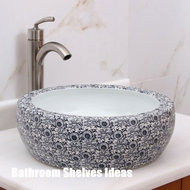Amazing Bathroom Shelves Ideas Sink White Vessel Sink Amazing