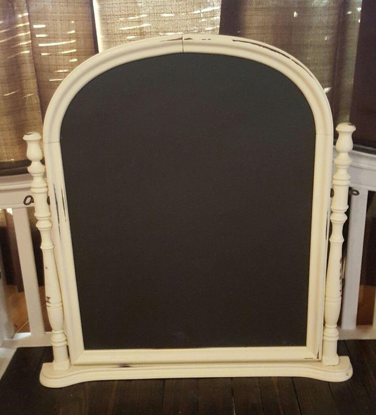 Dresser harp chalkboard