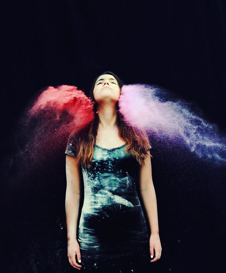 Color flour and throw at teen. Fun way to do creative photo shoot.