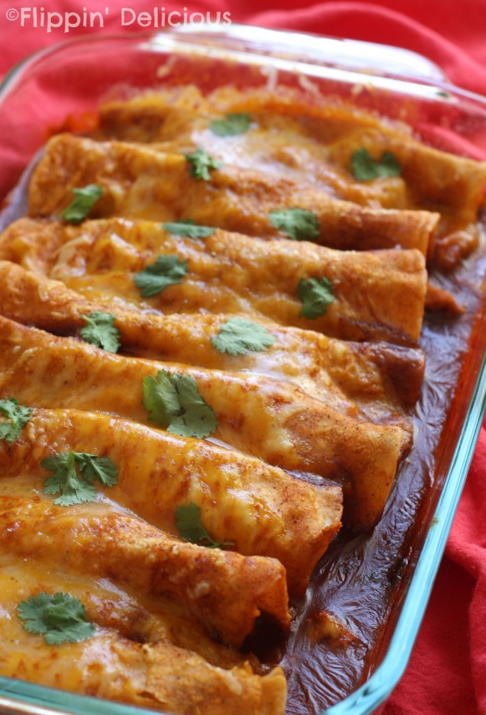 Enchiladas that are healthy for your family and come together in just 10 minutes. Naturally gluten-free, these make a quick and easy dinner without heating up your kitchen.