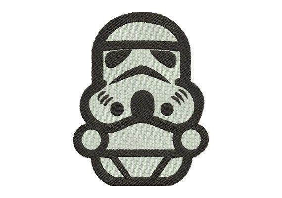 Stormtrooper Embroidery Design