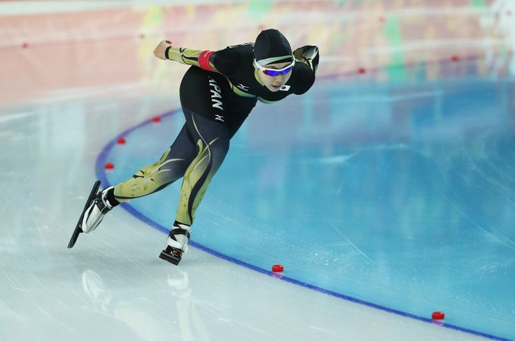 Misaki Oshigiri of Japan competes during the Speed Skating Women's 1500m (c) Getty Images