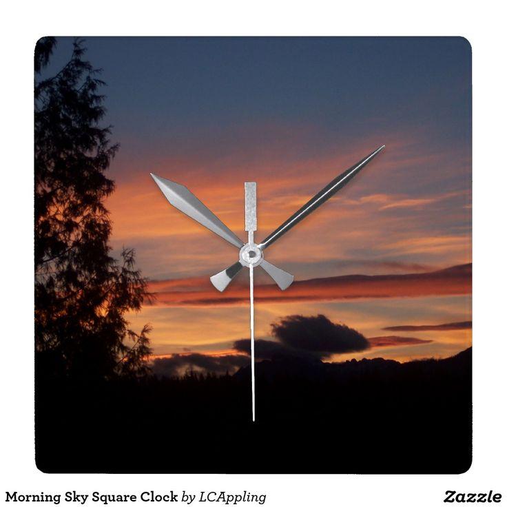 Morning Sky Square Clock
