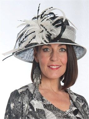 Black Ivory Feathers Grand Hat for the mother of the bride.