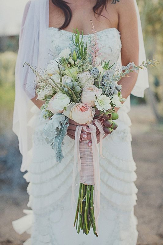 How Long Should Bridal Bouquet Stems Be : Best images about wedding flowers on peach