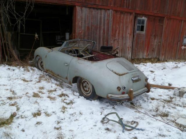 1953 Porsche 356 1500 Super Cabriolet Barn Find #porsche