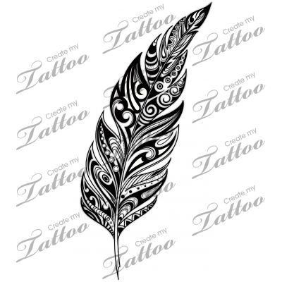 Marketplace Tattoo SBink Tribal Feather #10521 ...
