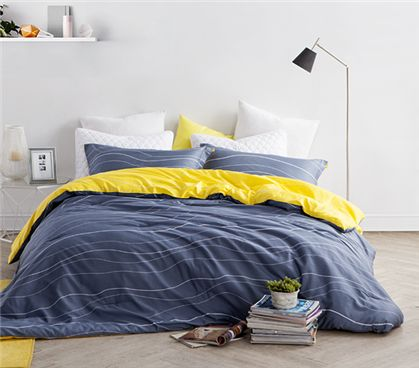 Reversible Twin XL College Comforter Twin XL Dorm bedding - Lunar Sol