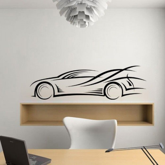 Best Abstract Wall Decals Images On Pinterest Wall Decals - Wall decals carscars wall decals add photo gallery car wall decals home design ideas