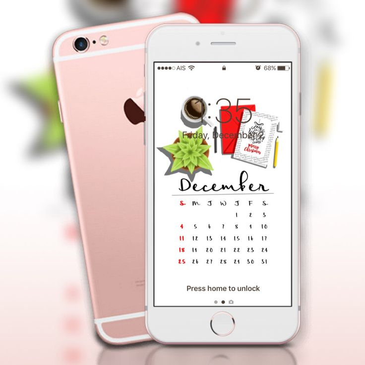 December 2016 Calendar wallpaper , iPhone wallpaper by BananaartsStore on Etsy https://www.etsy.com/listing/482391738/december-2016-calendar-wallpaper-iphone