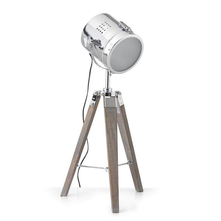 Tripod Table Theatre Lamp 65cm – Black Mango