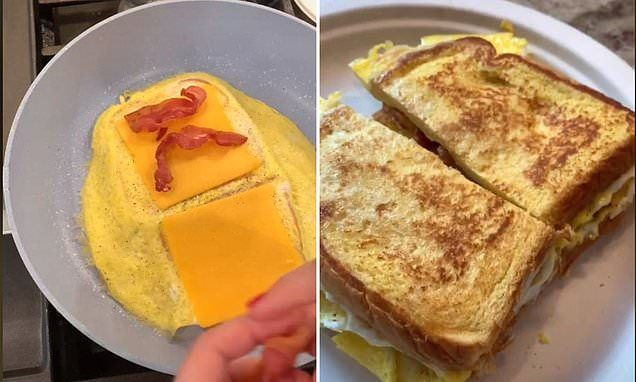This Bacon Egg And Cheese Hack Is Genius Easy Breakfast Sandwich Bacon Eggs Breakfast Bacon And Egg Sandwich