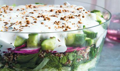 The Ultimate Potluck Appetizer: 7-Layer Quinoa Salad Hero Image