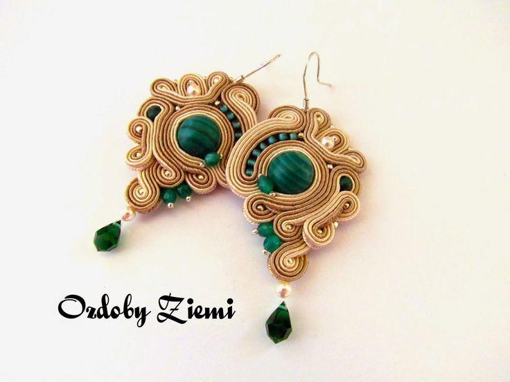 Ozdoby Ziemi: Sutaszowe kolczyki - Renda Soutache #earrings #earringssoutache #soutache #jewellery #jewellerySoutache #HandMade #HandMadeJewellery