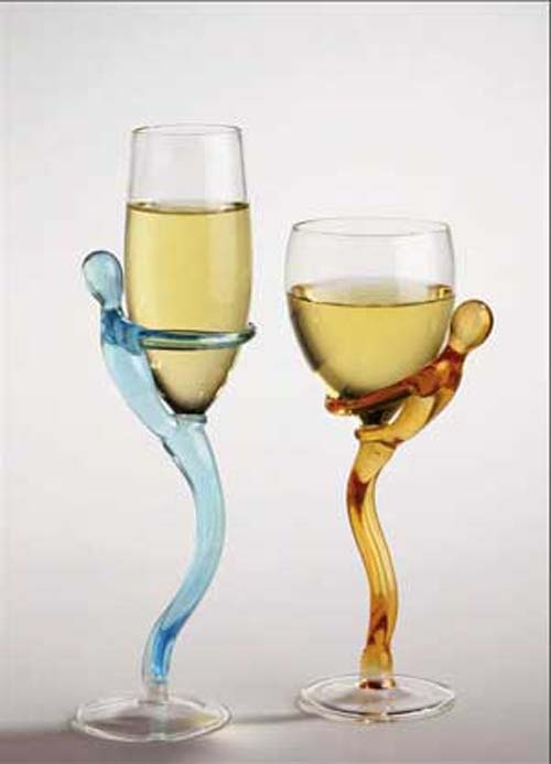 Unique wine glasses home decor pinterest glasses wine and chang 39 e 3 - Unusual champagne flutes ...