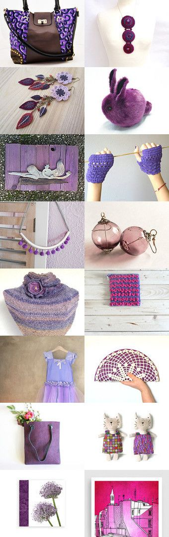 Life in Purple by Suomii Fabrics on Etsy--Pinned with TreasuryPin.com