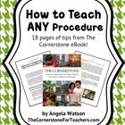 How to Teach ANY ProcedureCenter Ideas, Math Center, Cornerstone Ebook, Create Expecting, Behavior Management, Classroom Management, Education, Classroom Ideas, Classroom Procedural