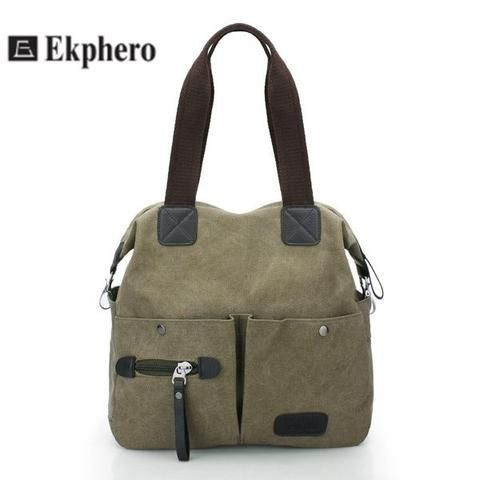 Ekphero Women Pillow Vintage Canvas Handbag