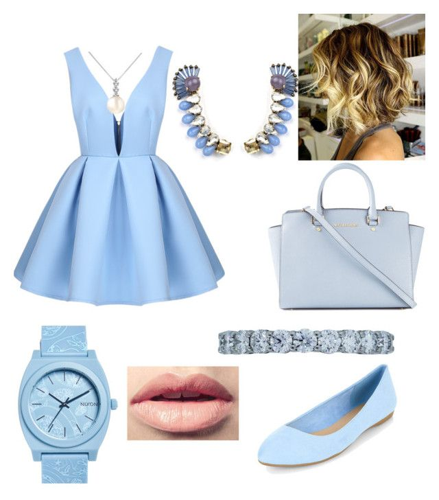 """""""light blue"""" by sweetheart-bk ❤ liked on Polyvore featuring Forzieri, Tiffany & Co., Nixon, MICHAEL Michael Kors, Tataborello and Easy Spirit"""