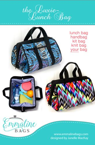 Emmaline Patterns - The Luxie Lunch Bag