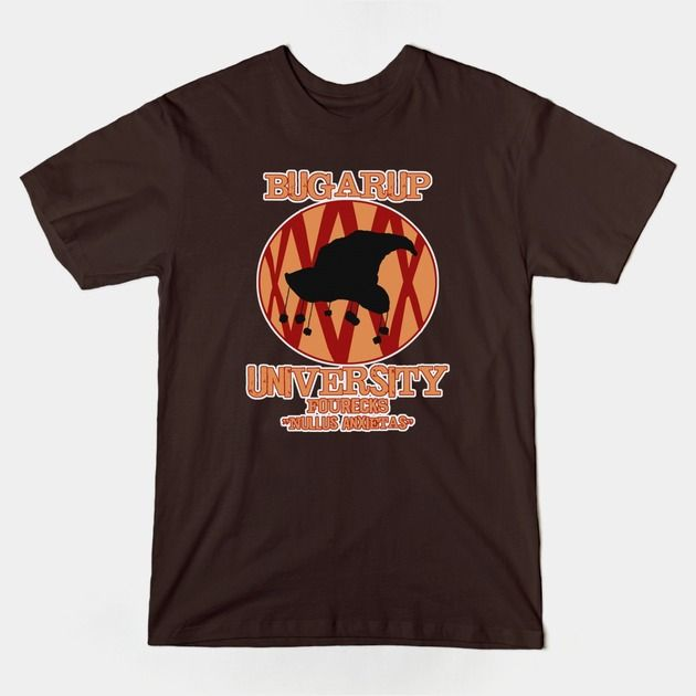 'Bugarup University'  New Discworld inspired shirt, added to the store.  #Discworld, #Pratchett, #Bugarup, #University, #tee, #shirt,