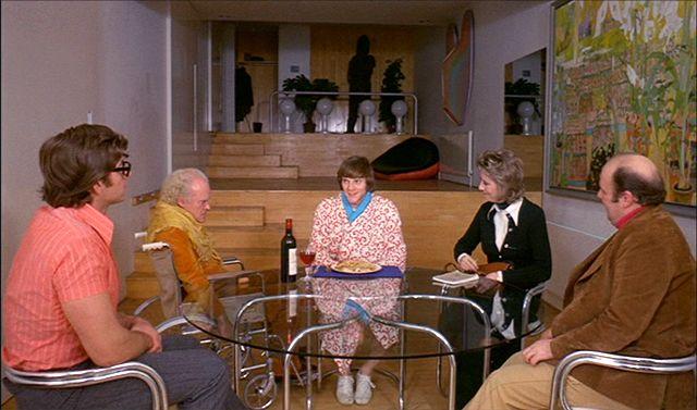 """""""Mechaniczna pomarańcza"""", reż. Stanley Kubrick, 1971, dom pisarza."""