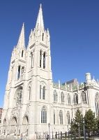 The Cathedral Basilica of the Immaculate Conception, St. Mary's Parish, located at what is now the corner of 15th and Stout streets was the first Catholic Church in Denver.