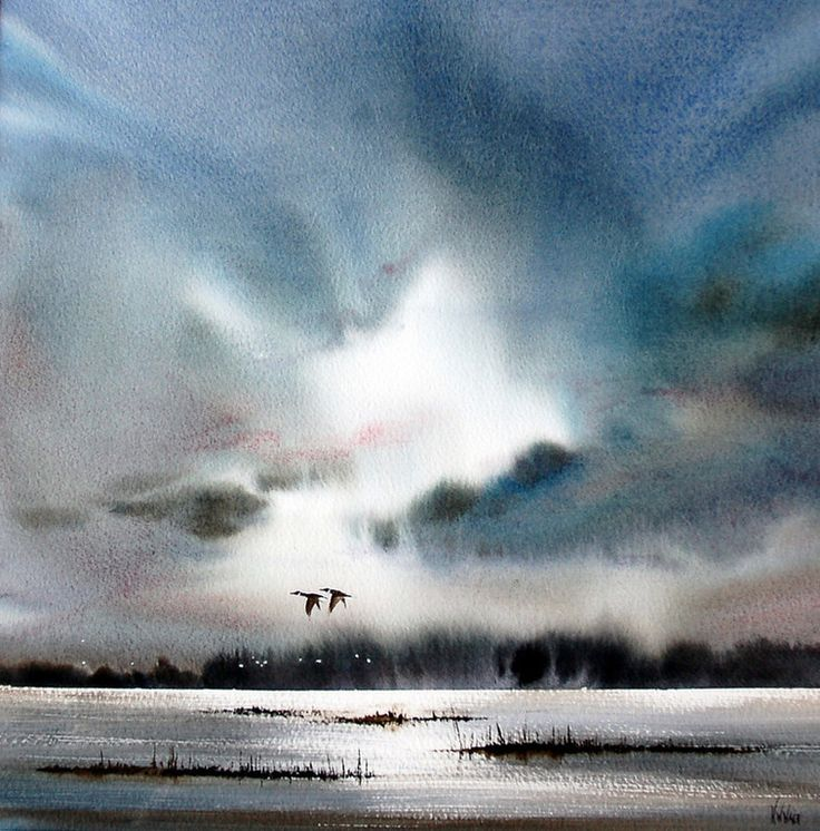 Landscape and seascape fine art watercolors of East Anglia