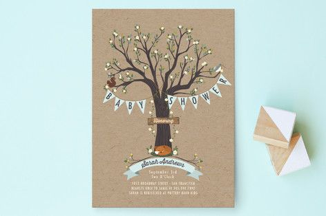 Woodland Baby Baby Shower Invitations by Susan Moyal at minted.com