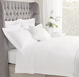 400 Thread Count percale makes the perfect marshmallow bed as me and my man like to call it :-) .. but more pillows needed!