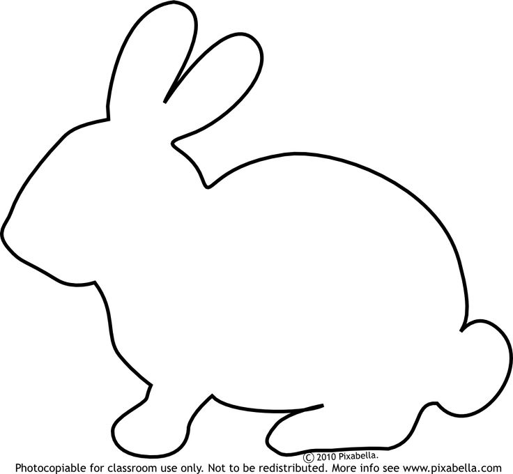 BUNNY OUTLINE | Bunny Rabbit | Free Clip Art from Pixabella