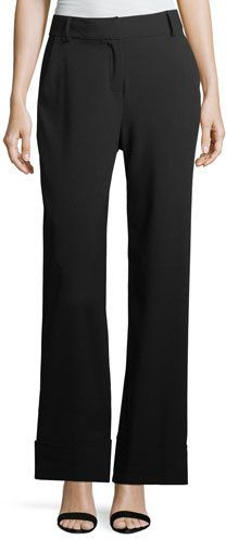 Laundry by Shelli Segal Wide-Leg Cuffed Pants