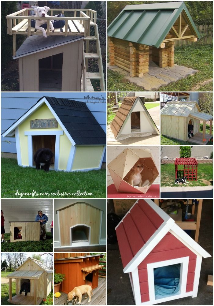 15 Brilliant DIY Dog Houses With Free