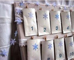 romantický adventní kalendář nostalgie, navod jak vyrobit adventní kalendář