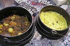 Kalahari Mince Curry with yellow rice