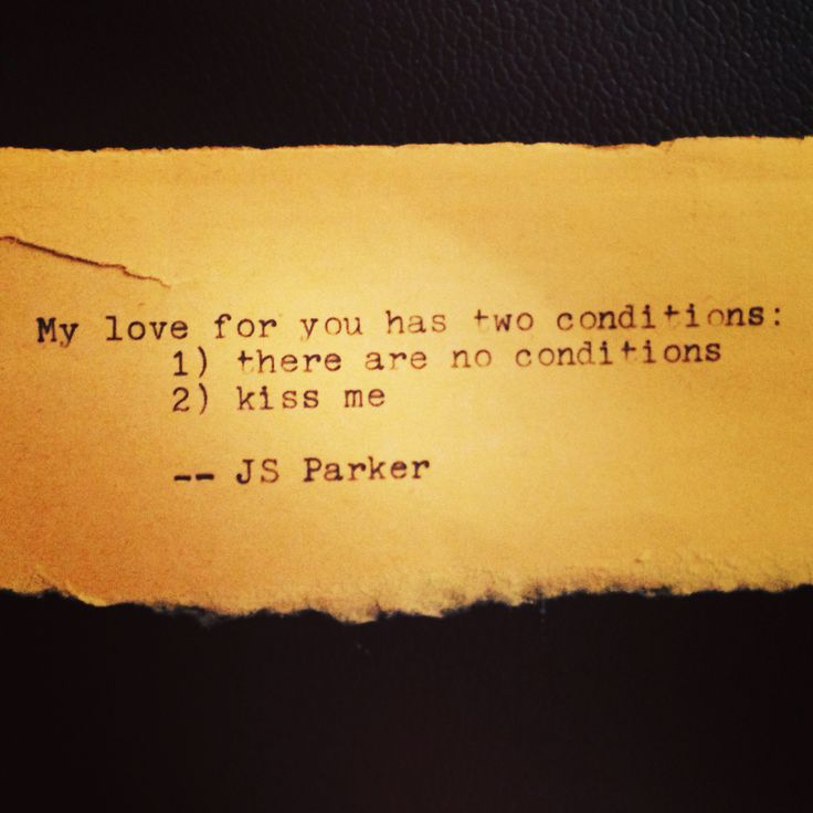 Love conditions quotes