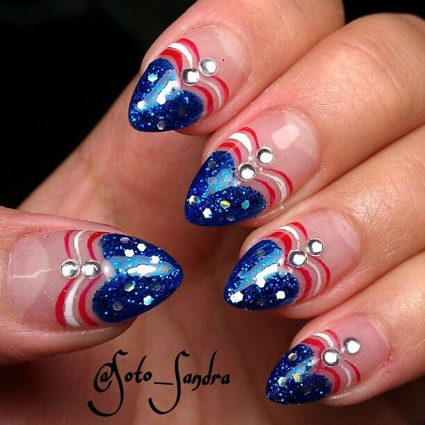 211 best Nail Art : Holiday : Patriotic images on Pinterest | Nail ...