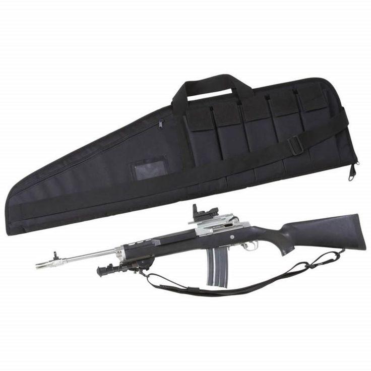 "42"" Long Black 600D Soft Padded Tactical Gun Case AR Bag Assault Rifle Storage…"
