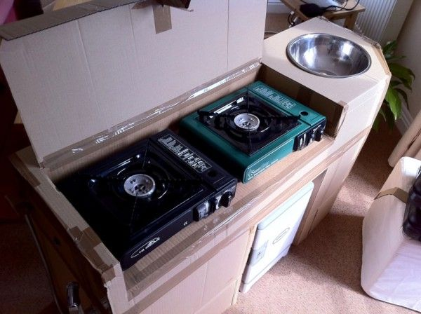 Kitchen unit prototype to make sure all components fit for Camper van kitchen units
